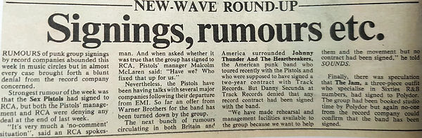 The Jam signing rumour