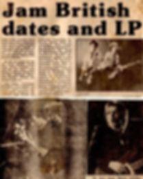 The Jam Dates