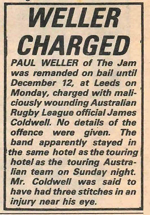 Paul Weller Charged