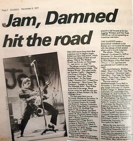 The Jam & The Damned hit the road