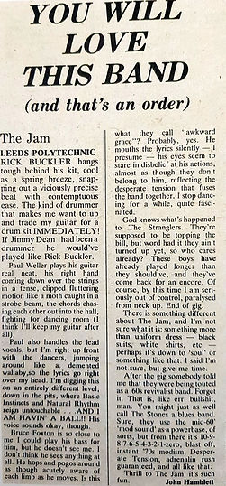 The Jam live at Leeds Polly