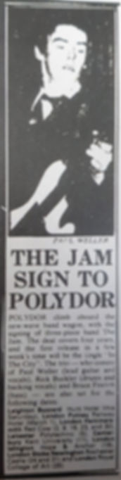 The Jam sign to Polydor