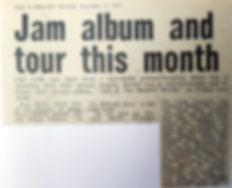 Jam album and tour