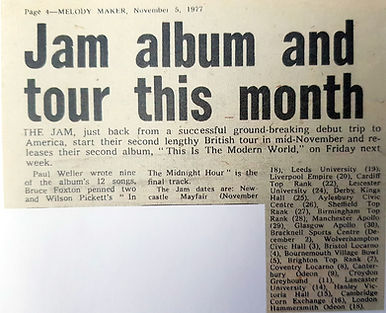 Jam album and tour