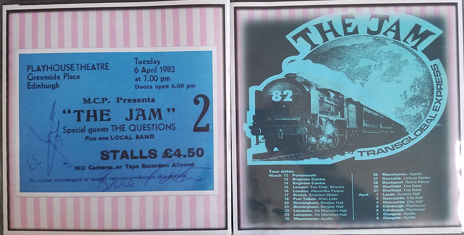 The Jam Edinburgh Playhouse 6/4/82