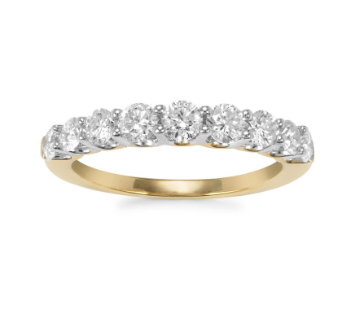 1ct Diamonds in 18k Gold Eternity Band Ring