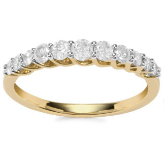 Diamond 9ct Gold Eternity Band Ring