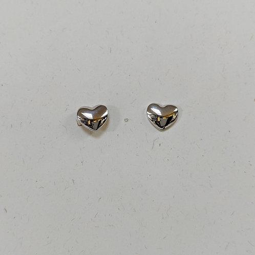 Sterling Silver HeartStud Earrings