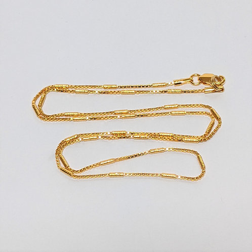 Venetian Station Chain -Sterling Silver with Gold Overlay