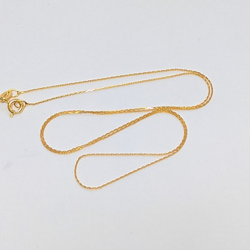 Light Trace Chain - Sterling Silver with Gold Overlay
