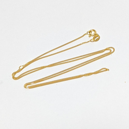 """18/20"""" Trace Chain -Sterling Silver with Gold Overlay"""