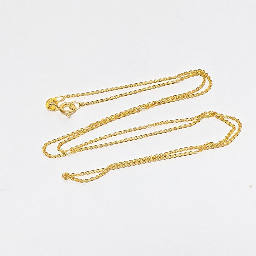 Classic Rolo Chain - Sterling Silver with Gold Overlay