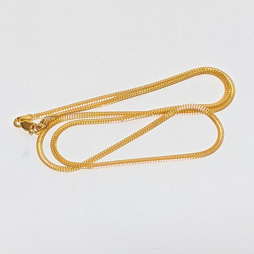 Arrow Chain -Sterling Silver with Gold Overlay