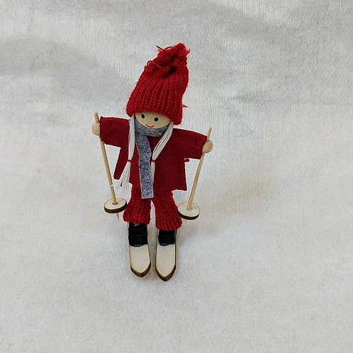 Nordic Ski Christmas Character Tree Decoration