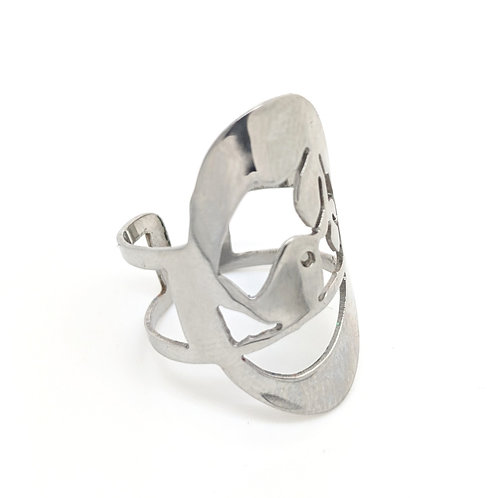 Stainless Steel Robin Ring