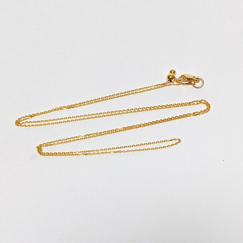 Cable Slider Chain - Sterling Silver with Gold Overlay