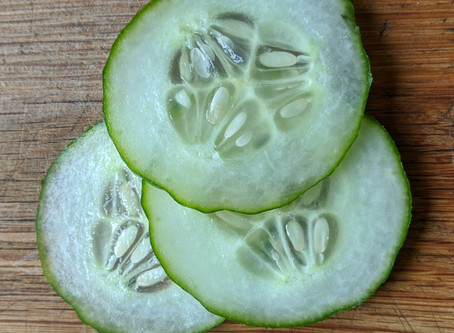 Cucumber for cool eyes