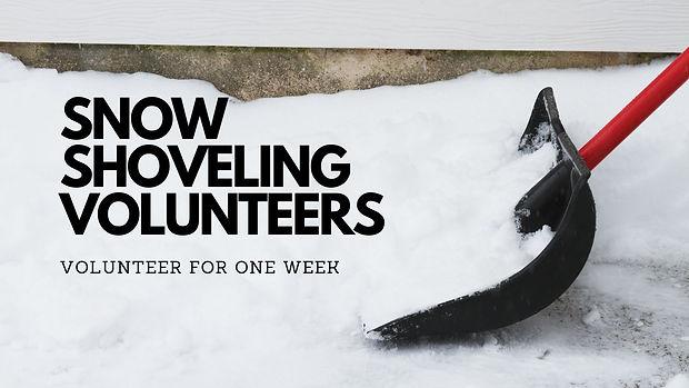 Snow Shoveling Volunteers Needed