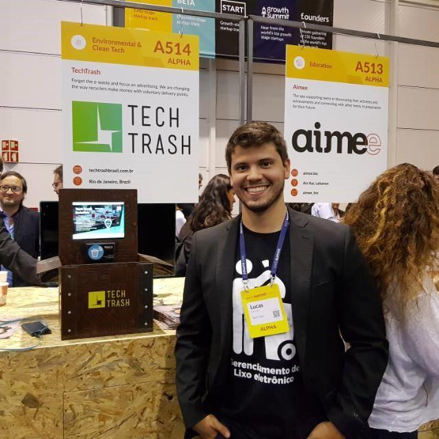 Lucas Palazzo, um dos sócios da Tech Trash