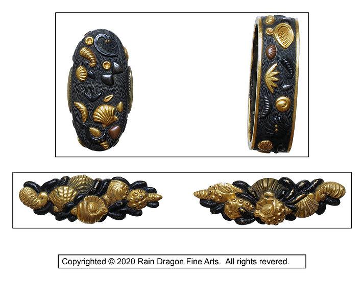 Matching Set Sword Handle Caps (Fuchi-Gashira) and Ornaments (Menuki)