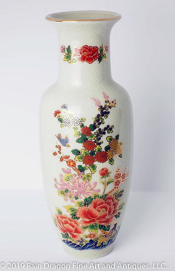 Satsuma Style Earthenware Vase