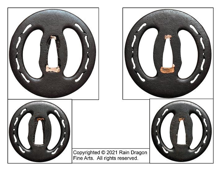 Sword Handguard (Tsuba) (Daishō) Set with Openwork (Sukashi) Design