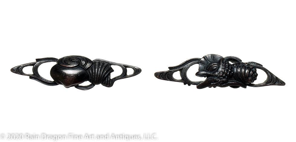Japanese Sword Handle Ornaments (menuki) of Seashells