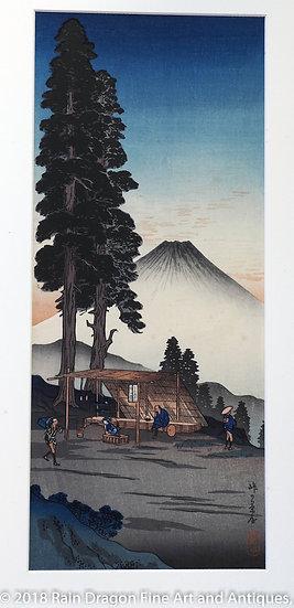 Vintage Woodblock Print by Hiroaki Shotei