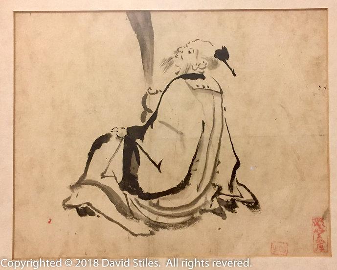 Ink Wash Painting of Chokaro Sennin
