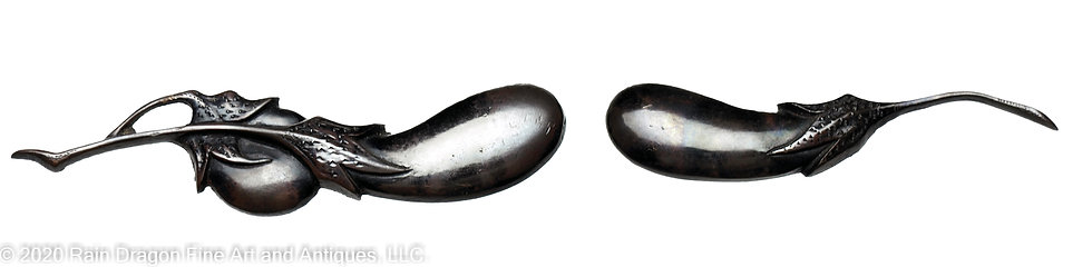 Japanese Sword Handle Ornaments (menuki) of Egg Plants