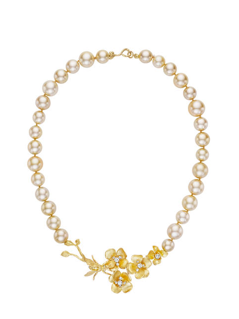 Susan Gordon Jewelry Pearl necklace with flowers .png