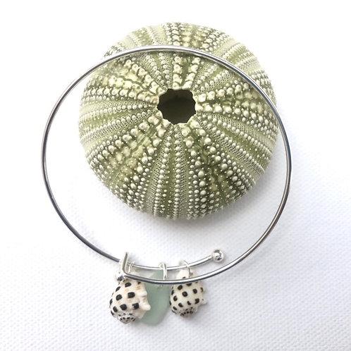 Shell and Sea Glass Bangle