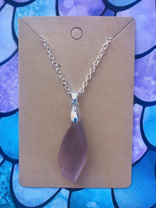 Lavender Sea Glass Necklace