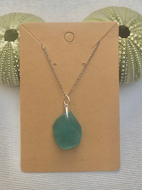 Sterling Silver Sea Glass Necklace