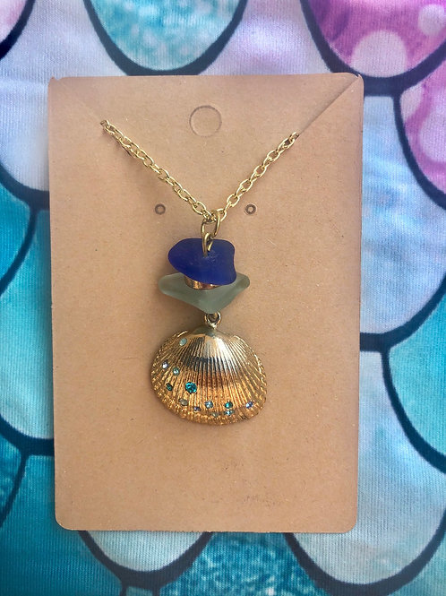 Sea Glass/Shell Necklace