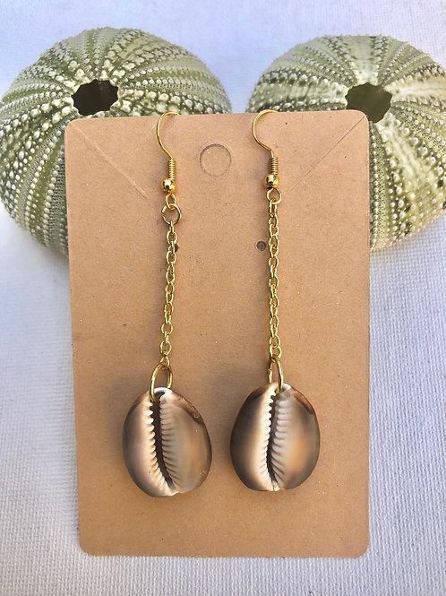 Long Cowrie Shell Earrings