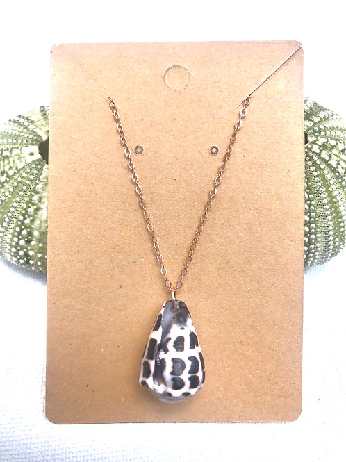 Rose Gold Cone Shell Necklace