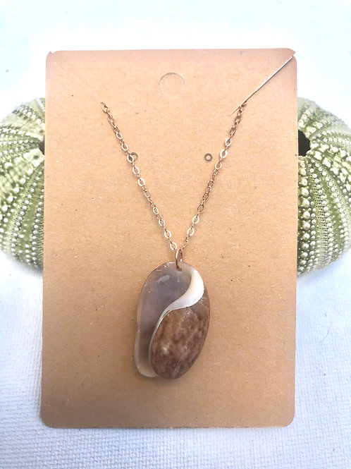 Rose Gold Bubble Shell Necklace