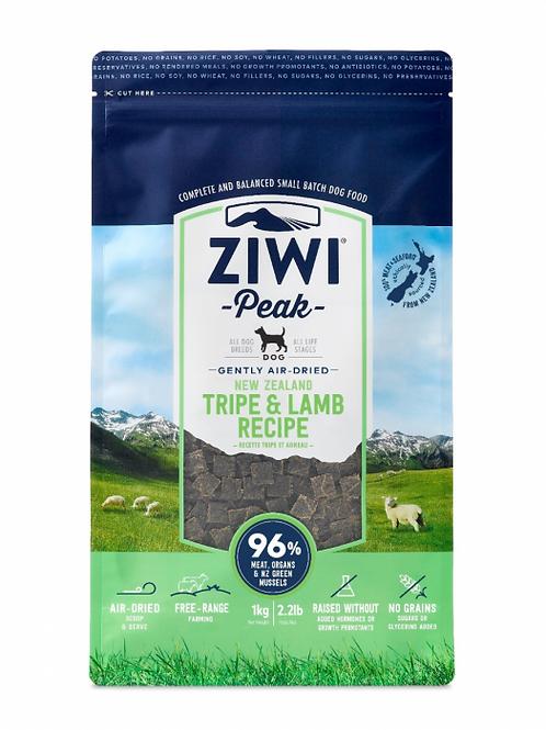 ZIWI Peak -Gently Air-Dried Grain Free- Tripe & Lamb Recipe