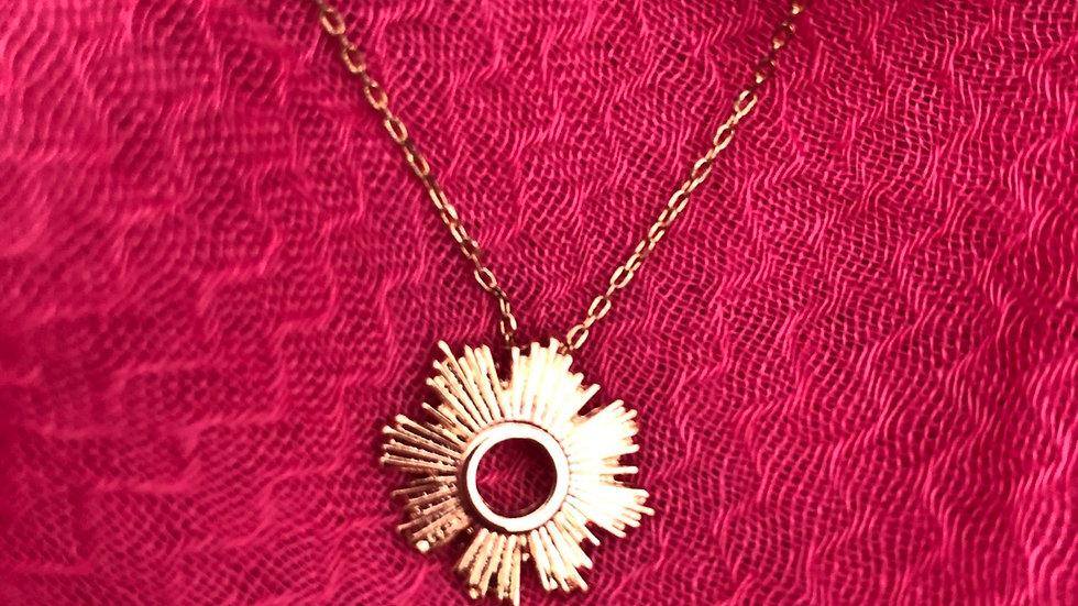 Rose Gold Sunburst Necklace