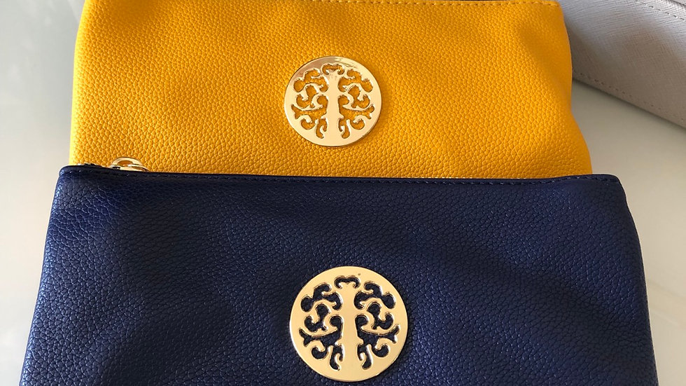 Navy Blue Small Clutch Bag with Detachable Straps