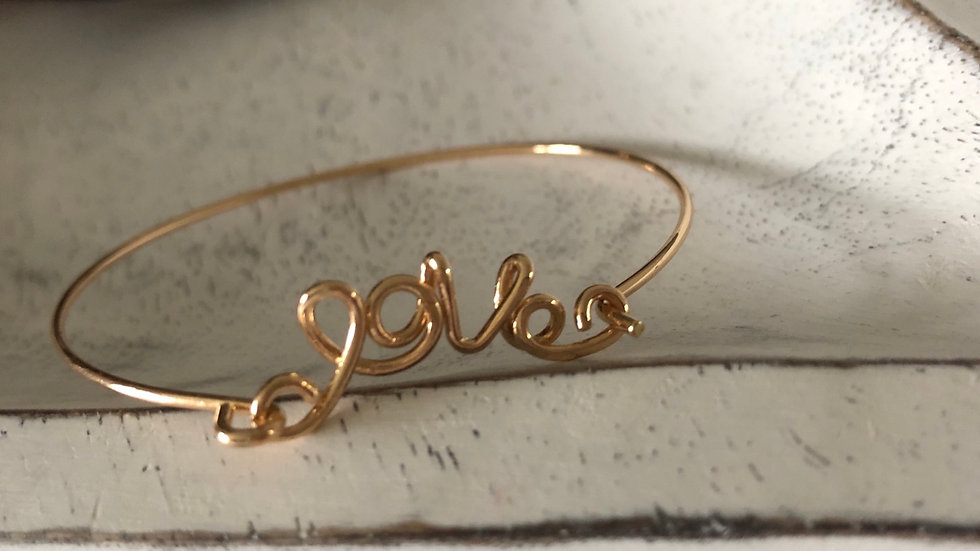 Gold Plated 'Love' Bracelet