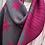 Thumbnail: Cerise Pink & Dark Grey Pleated Reversible Scarf