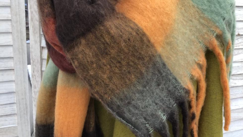 Multicoloured Tartan Snuggly Scarf