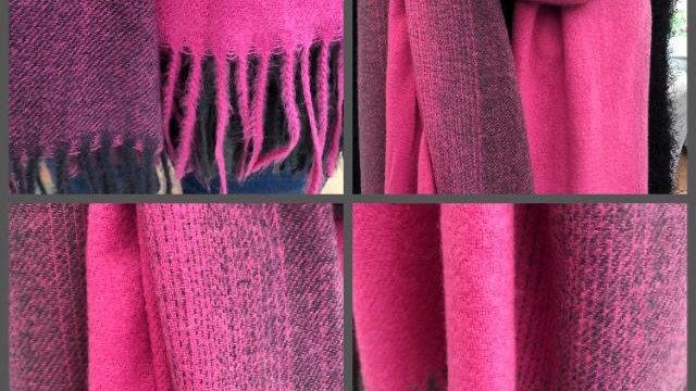 Pink & Grey Gradient Super Soft Brushed Scarf
