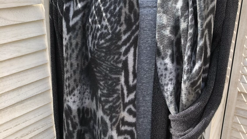 Grey Super Soft Animal Design Scarf