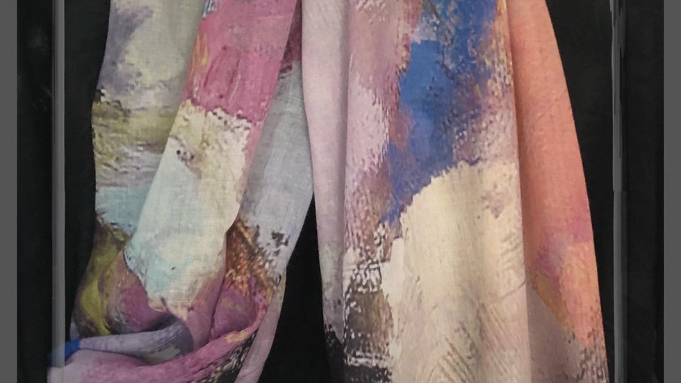 Multicoloured 'Watercolour' Scarf