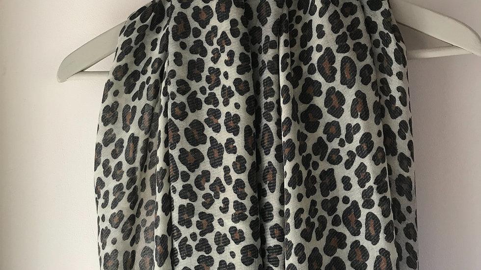 Brown Leopard Print Super Soft Scarf