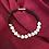 Thumbnail: Silver Heart & Dark Grey Beaded Bracelet
