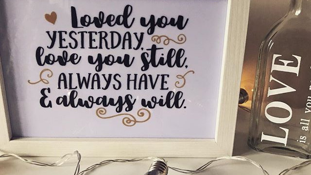 Loved You Yesterday Quote Light Box